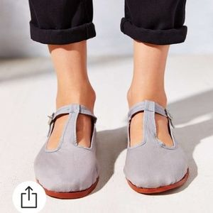 UO Lavender T-Strap Mary Jane Slipper Flats